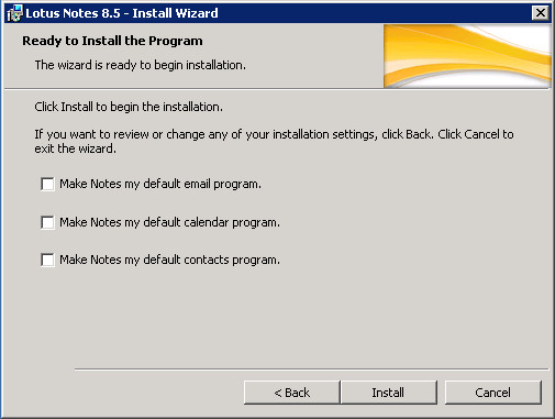 domalab.com configure Domino lotus notes default program