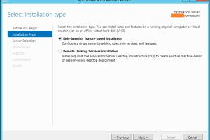 Windows Server 2012 Add Role