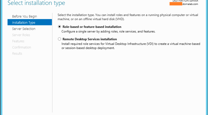 Windows Server 2012 Add Role