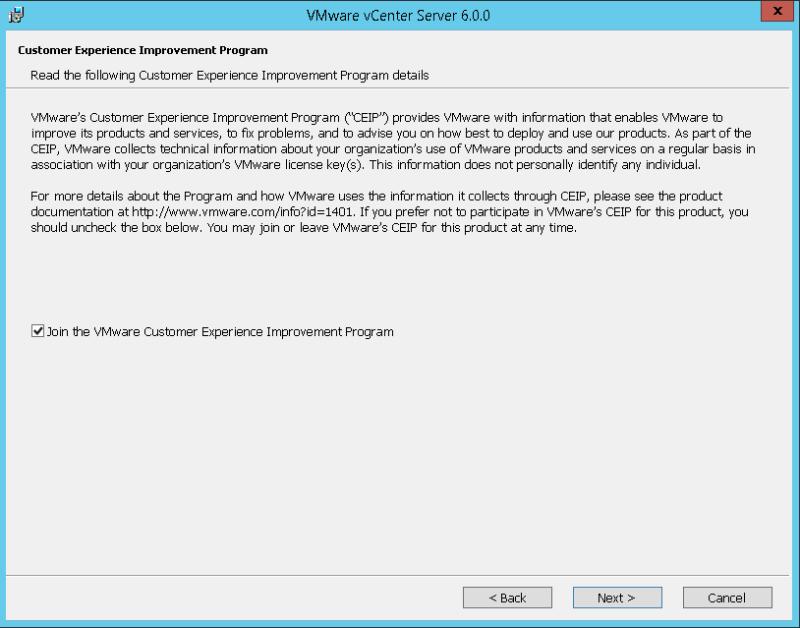 domalab.com VMware vCenter Deploy CEIP