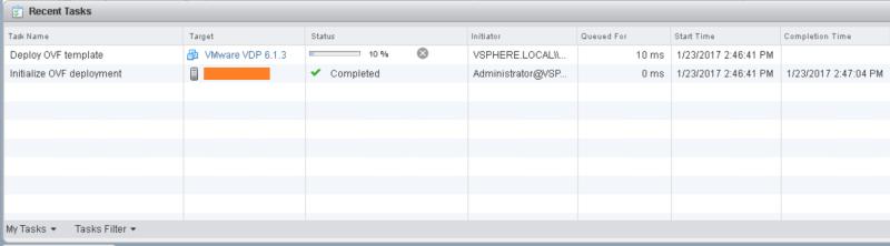 domalab.com VMware VDP install task
