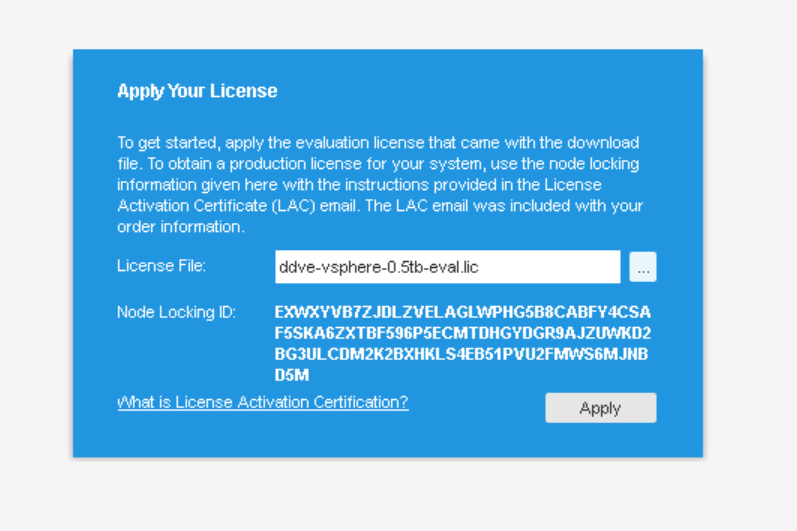 domalab.com Data Domain VE install license