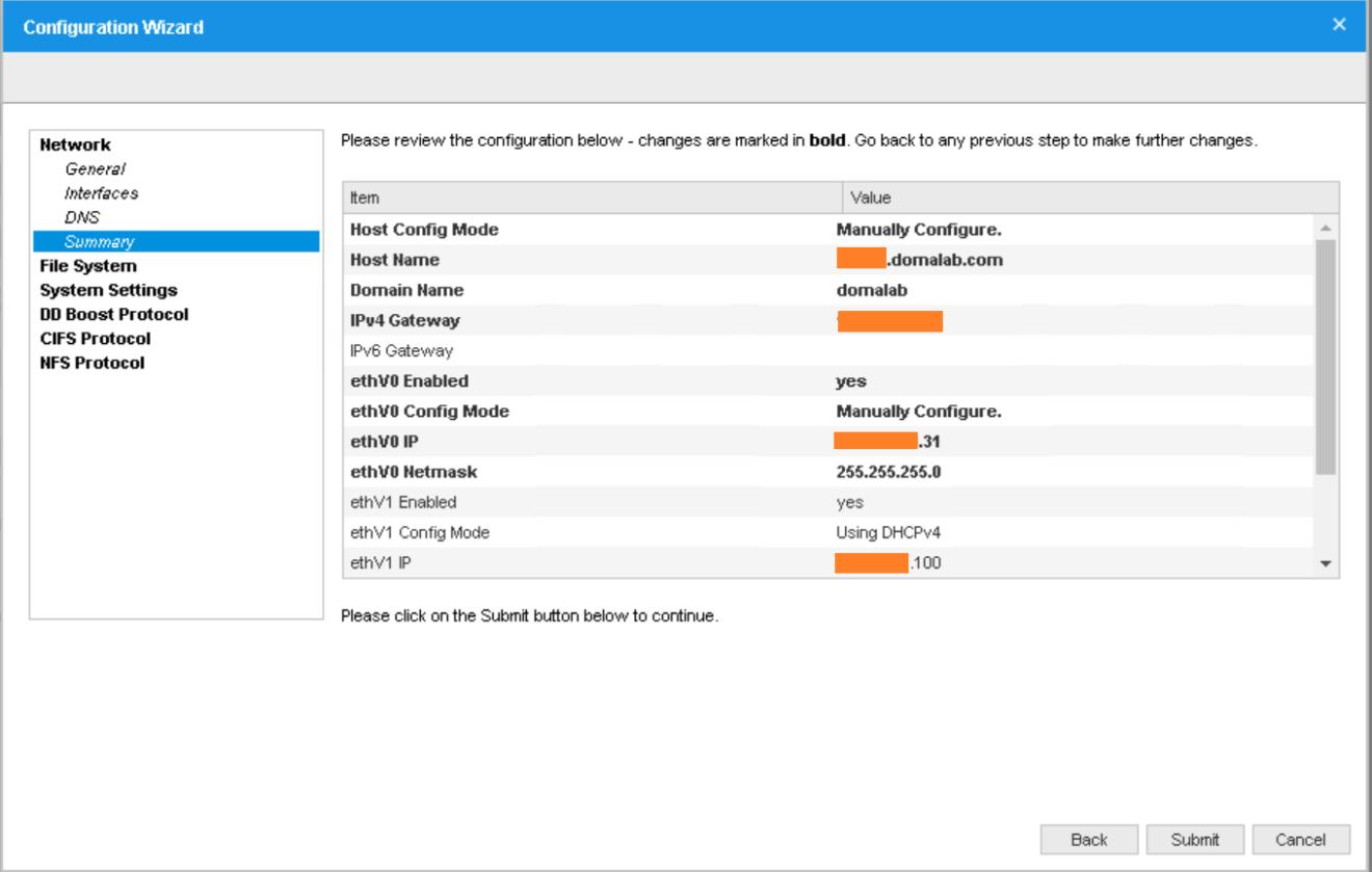 domalab.com Data Domain VE install network summary
