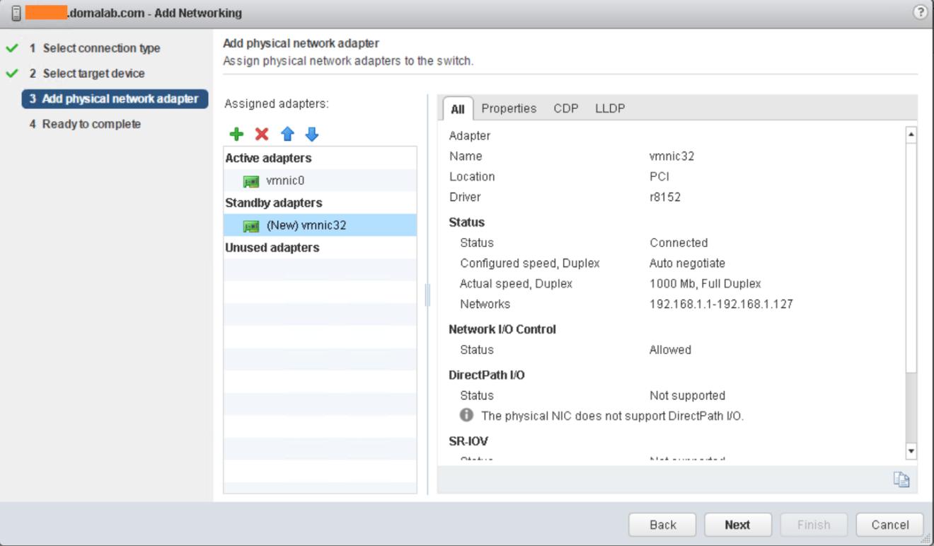 domalab.com VMware vSphere Network move adapters