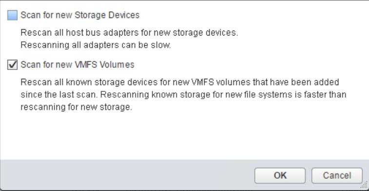 domalab.com VMware vSphere iSCSI scan VMFS volumes