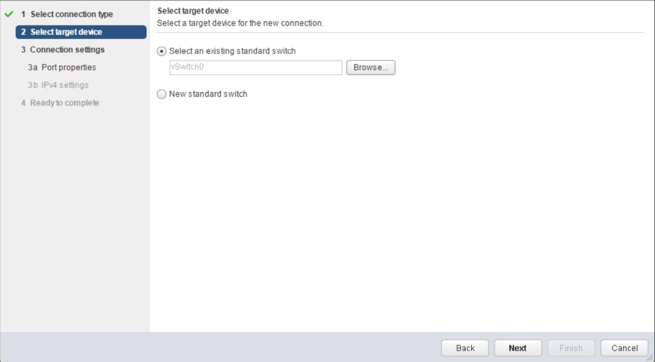 domalab.com VMware vSphere VMkernel select virtual switch