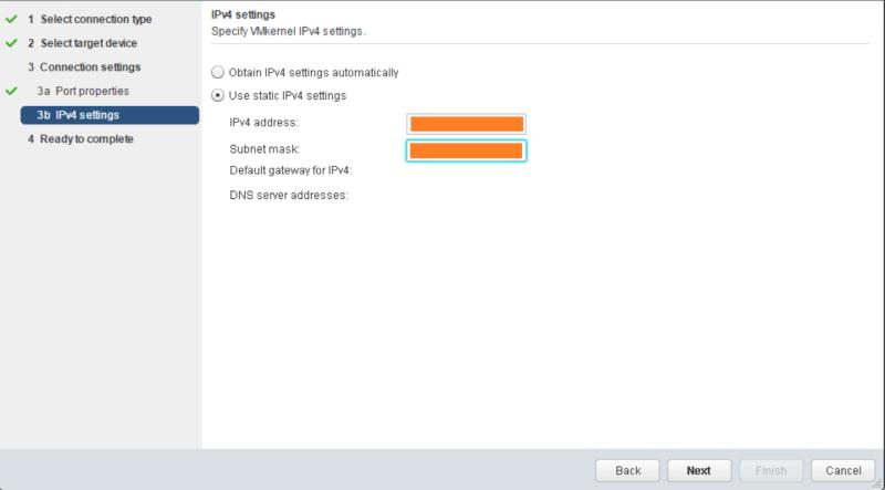 domalab.com VMware vSphere VMkernel IPv4 settings