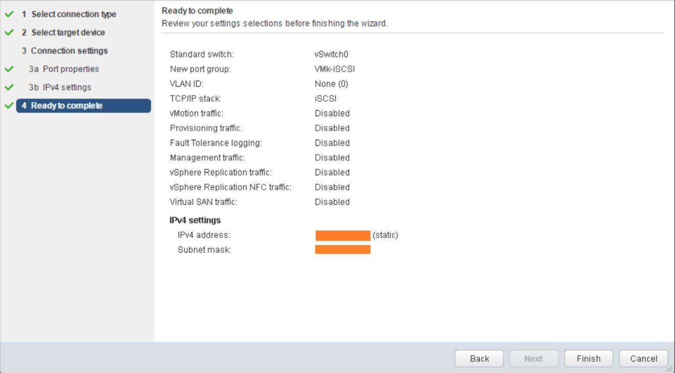 domalab.com VMware vSphere VMkernel summary wizard