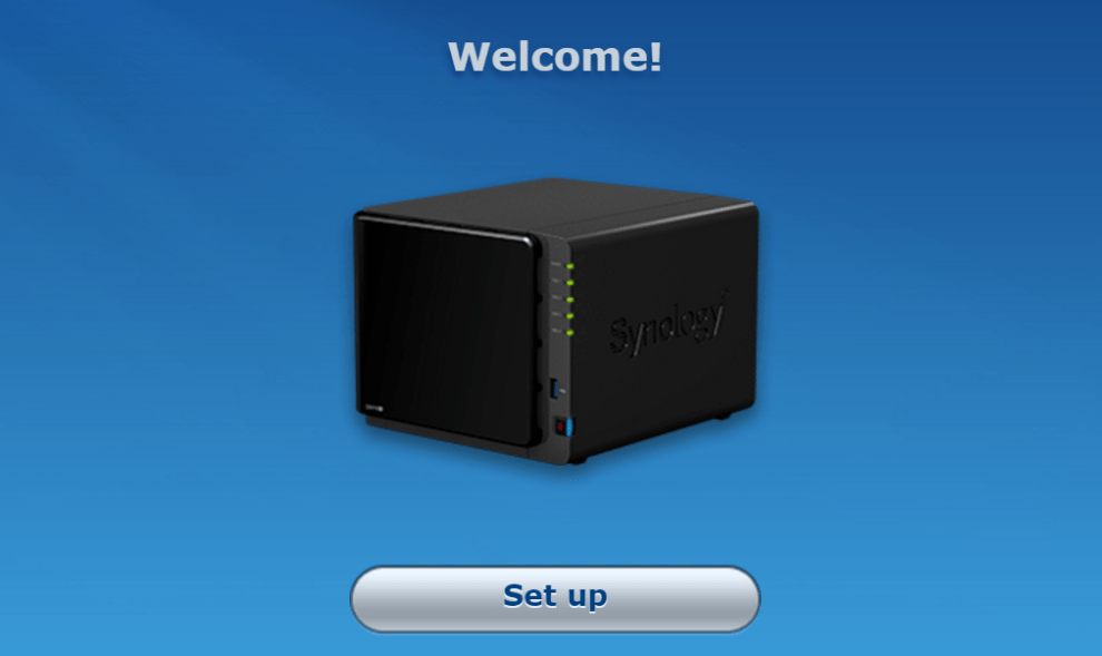 First time configuration for Synology NAS » domalab