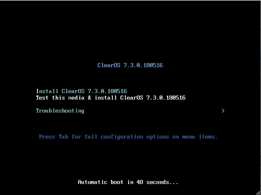 domalab.com Install ClearOS Boot installer
