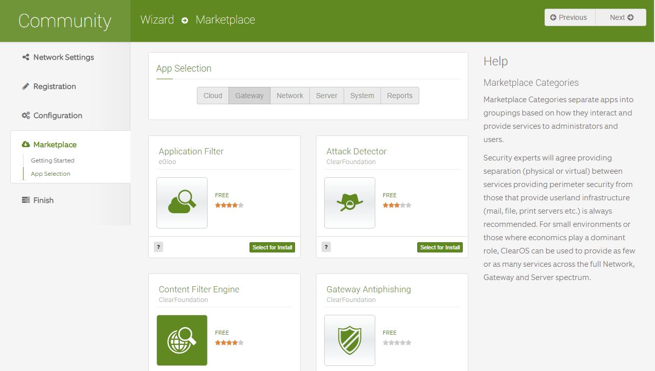 domalab.com Configure ClearOS marketplace app
