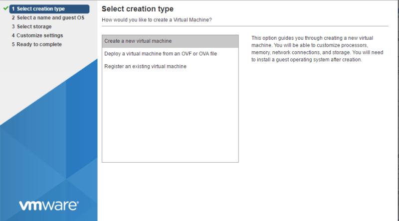 domalab.com Deploy NAS4Free VMware ESXi create VM