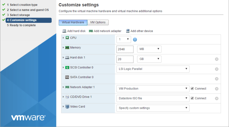 domalab.com Deploy NAS4Free VMware ESXi customise settings