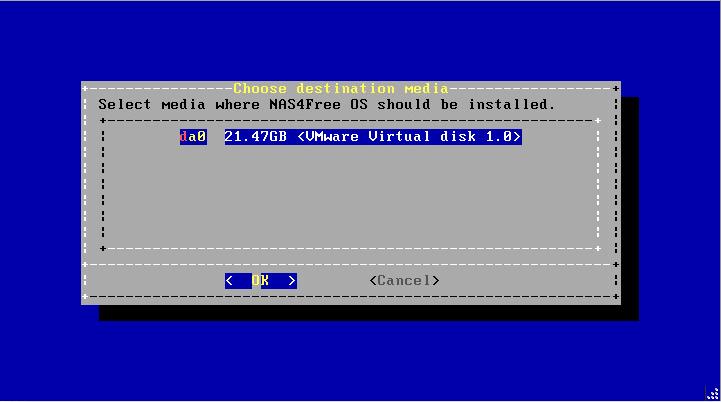 Install NAS4Free VMware ESXI 11