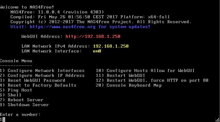 domalab.com Configure NAS4Free command line