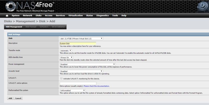 Install NAS4Free VMware ESXi 37