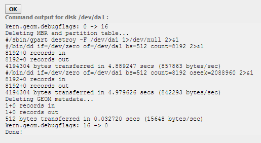 domalab.com NAS4Free storage disk format log