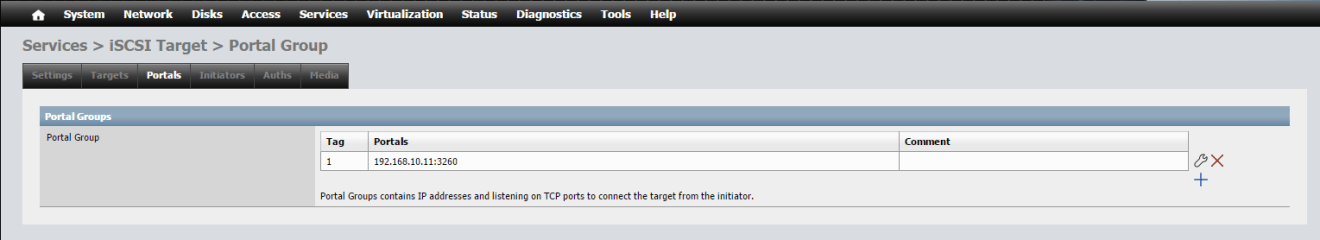 domalab.com NAS4Free iSCSI Portal group
