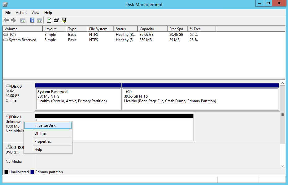 domalab.com NAS4Free iSCSI target initialize disk