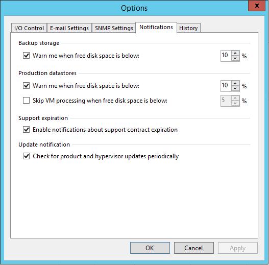 Veeam Backup Notifications