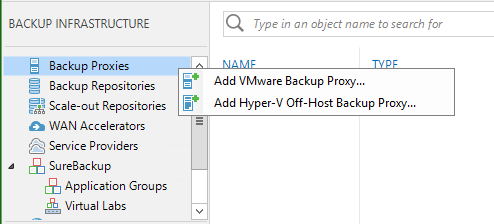Add Veeam Backup Proxy