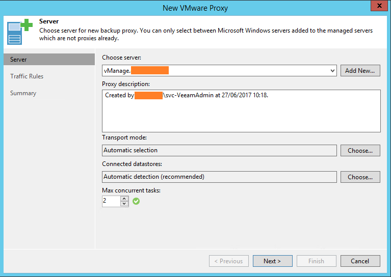 Veeam Backup Proxy Selection