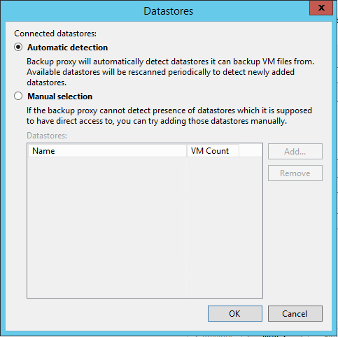 Veeam Backup Proxy Datastore Selection