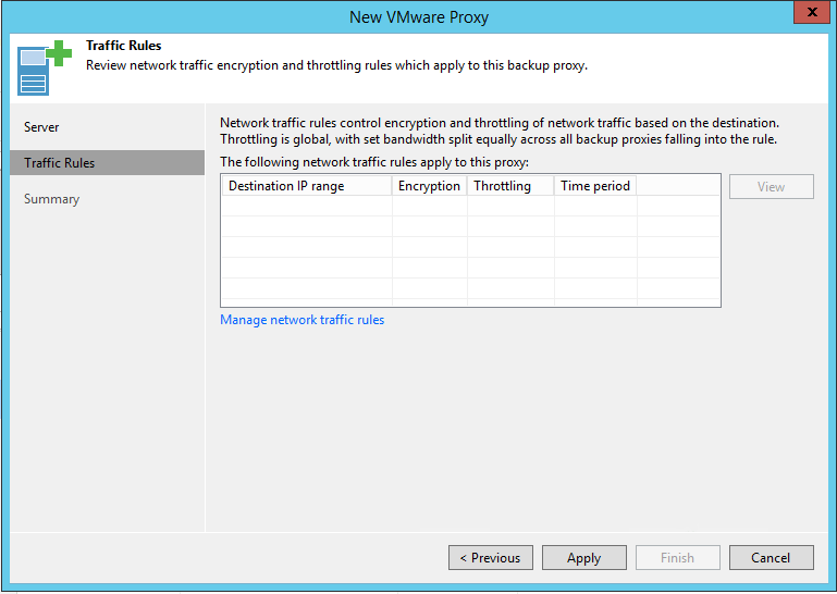 Veeam Backup Proxy Traffic Rules