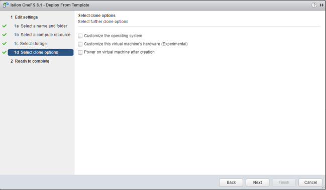vCenter customise Operating system