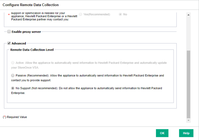 HPE StoreOnce VSA Advanced Remote Data Collection