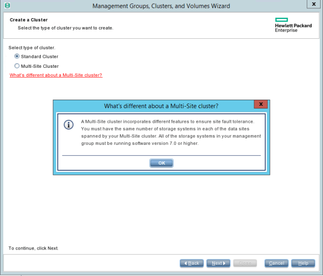 HPE StoreVirtual Management Cluster