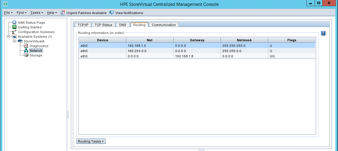 configure HPE StoreVirtual Routing