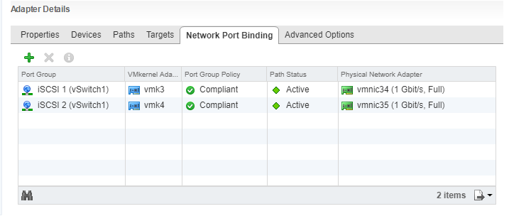 HPE StoreVirtual volume network port binding