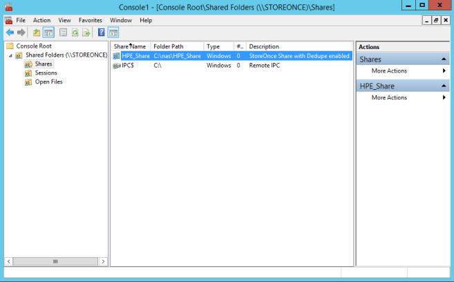 MMC Shared Folders View