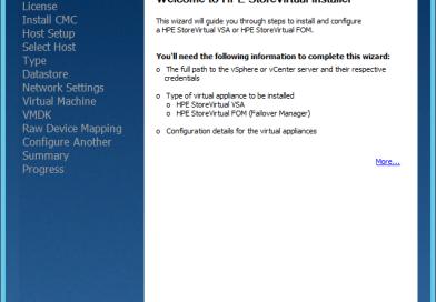 Install HPE StoreVirtual VSA on vSphere
