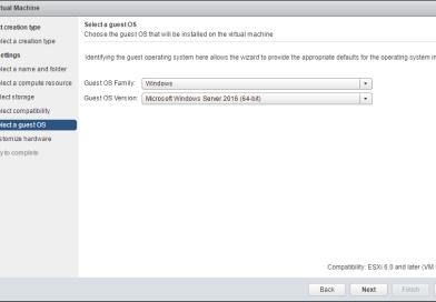 Hyper-V 2016 nested install into VMware vSphere