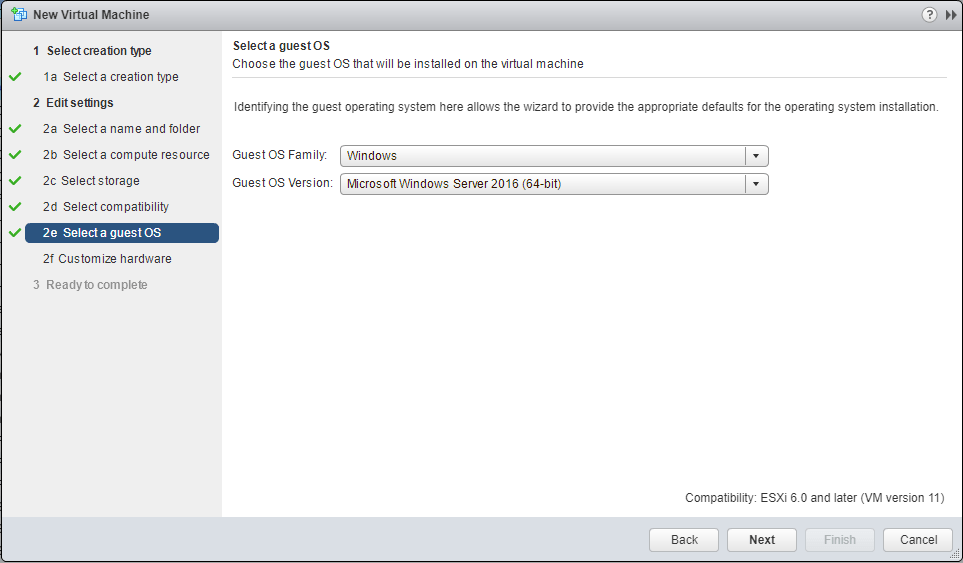 Hyper-V 2016 nested install into VMware OS Guest