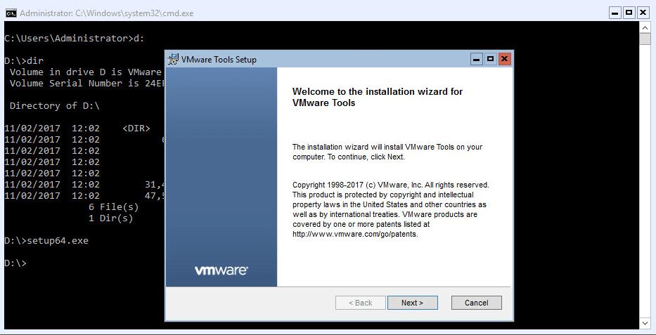 Hyper-V 2016 Configuration VMware Tools