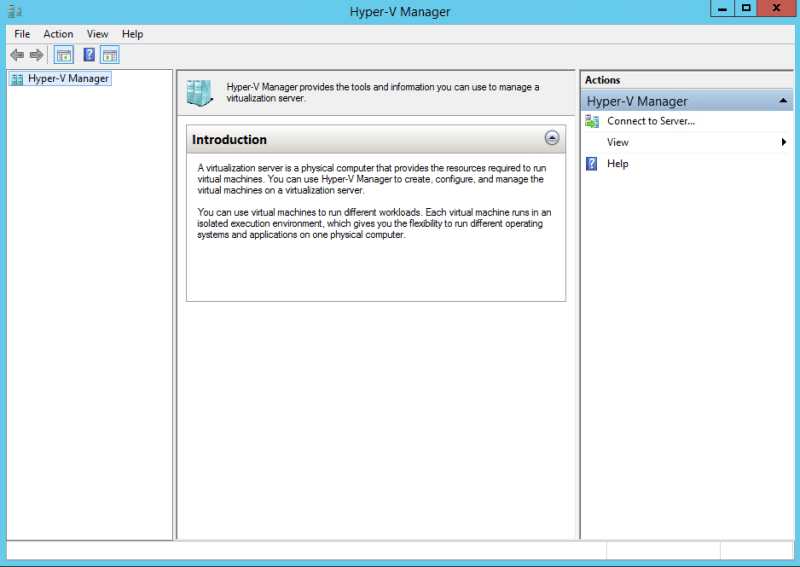 Connect Hyper-V 2016 Console