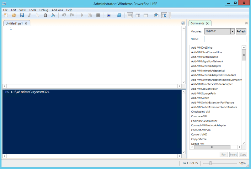 Connect Hyper-V 2016 with PowerShell