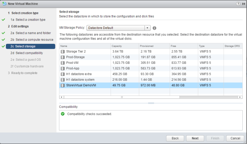 Linux Ubuntu vm datastore