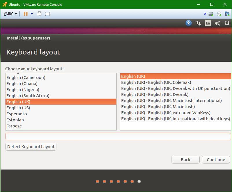 Linux Ubuntu vm keyboard