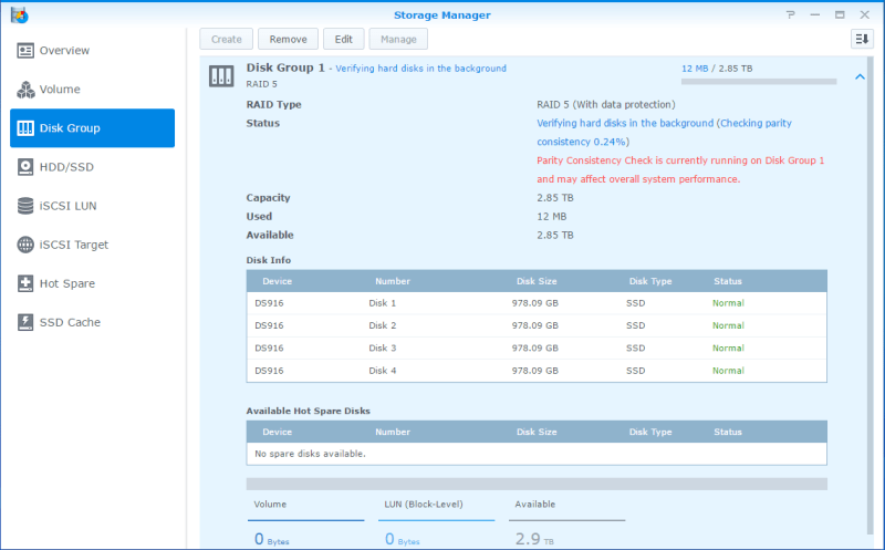 Synology LUN Storage Manager