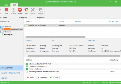 How to run Office 365 Backup with Veeam