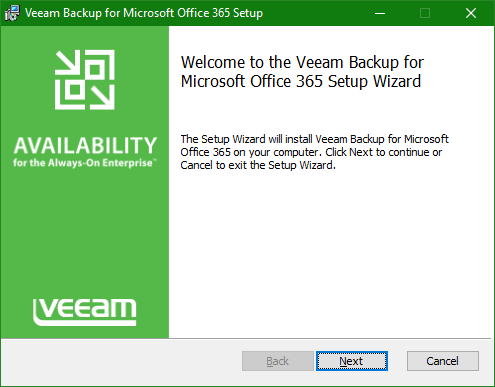 Backup Microsoft Office 365 Setup