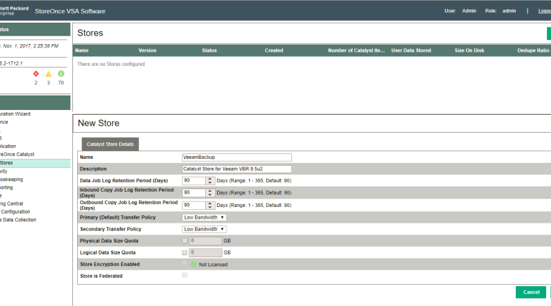 Quick HPE StoreOnce Catalyst Store overview
