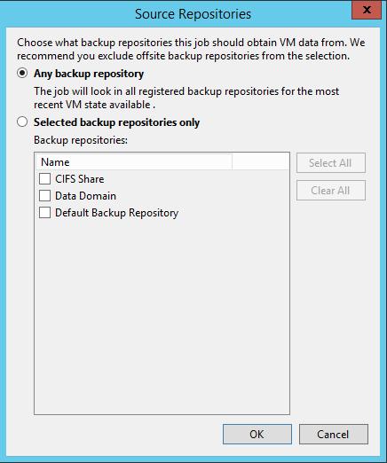 Veeam Backup Copy Job source