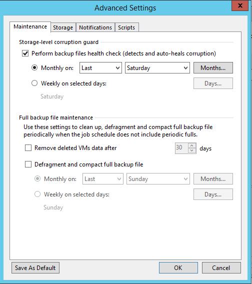 Veeam Backup Copy Advanced setting