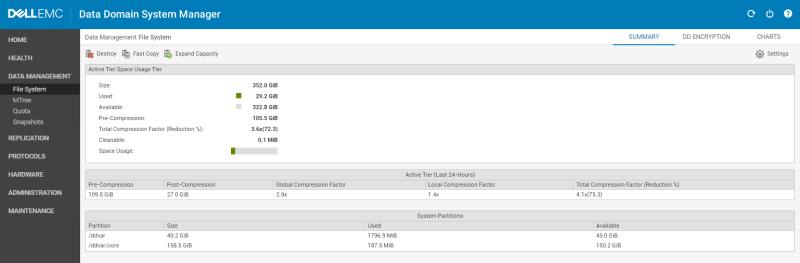 Veeam Backup Copy Job data domain