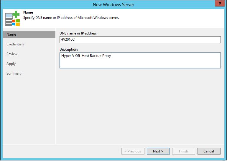 Hyper-V Off-Host Name